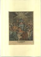 LA PENTECOTE . REPRO DE PHOTO COULEURS DECOUPEE ET COLLEE SUR PAPIER . - Religion & Esotericism