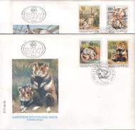 FDC YUGOSLAVIA MI2525-RABBIT,MOUSE - Briefmarken