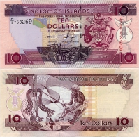 SOLOMON IS.         10 Dollars       P-27       ND (2011)       UNC  [ Sign. 10 ] - Salomons