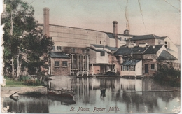 COLOURED FRITHS POSTCARD - ST. NEOTS PAPER MILLS - C1907 - Very Damaged - England