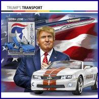 SIERRA LEONE 2017 ** Cars Autos Voiture Chevrolet Lamborghini Donald Trump S/S - IMPERFORATED - DH1712 - Voitures