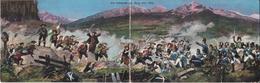 CPA INNSBRUCK (Autriche)  Die Schlacht Am Berg Isel 1809. Carte Panoramique Double. ..E773 - Innsbruck