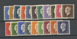 FRANCE -  M. DE DULAC  - N° Yvert  682/701** - 1944-45 Marianne Of Dulac