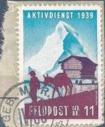 """Soldatenmarke  """"Geb.Br.11 - Aktivdienst""""  (Matterhorn Mit Säumer)            1939 - Viñetas"""