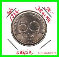 GRECIA  -  GREECE  -  MONEDA DE  50 DRACHMES   - AÑO 1984  S/C   Copper-Nickel, 31 Mm - Grecia