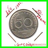 GRECIA  -  GREECE  -  MONEDA DE  50 DRACHMES   - AÑO 1982  S/C   Copper-Nickel, 31 Mm - Grecia