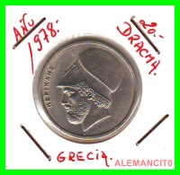 GRECIA  -  GREECE  -  MONEDA DE  20 DRACHMAI   - AÑO 1978     Copper-Nickel,  29 Mm - Grecia