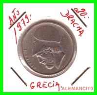 GRECIA  -  GREECE  -  MONEDA DE  20 DRACHMAI   - AÑO 1980    Copper-Nickel,  29 Mm - Grecia