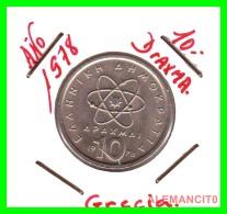 GRECIA  -  GREECE  -  MONEDA DE  10 DRACHMAI   - AÑO 1978   Copper-Nickel,  26 Mm - Grecia