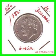 GRECIA  -  GREECE  -  MONEDA DE  10 DRACHMAI   - AÑO 1984   Copper-Nickel,  26 Mm - Grecia
