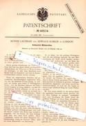 Original Patent -  Morris Lachman Und Edward Kohler In London , 1889 , Kettenstich-Nähmaschine !!! - Historical Documents