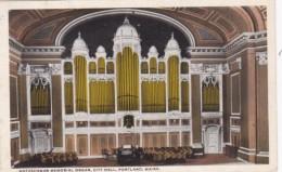 MaIne Portland Kotzschmar Memorial Organ At City Hall Curteich