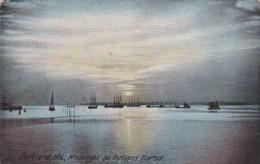 MaIne Portland Moonlight On Portland Harbor 1908