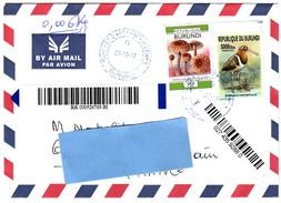 Z3] Enveloppe Recommandée Registered Cover Burundi Oiseau Bird (IMPRESSOR)