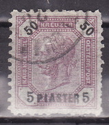 LEVANTE 1891 ANK 29 , 5 PIASTER A. 50 KR.  Lz.10-1/2 - Used Stamps