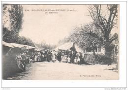 (n°450) CPA 71 BEAUREPAIRE EN BRESSE Le Marché ( Tres Belle Carte Neuve ) - Autres Communes