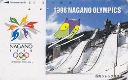 Télécarte Japon / 271-03321 - HIBOU Jeux Olympiques NAGANO SAUT A SKI - OWL Bird OLYMPIC GAMES Japan Phonecard EULE 3913 - Jeux Olympiques