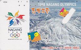 Télécarte Japon / 271-02977 - HIBOU Jeux Olympiques NAGANO SNOW BOARD - OWL Bird OLYMPIC GAMES Japan Phonecard - 3915 - Jeux Olympiques