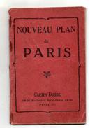 NOUVEAU PLAN DE PARIS  Cartes Taride  ANNEE 1923 - Europe