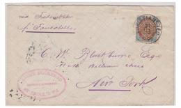 DANEMARK (ANTILLES) -- LETTRE DE CHRISTIANSTED POUR NEW-YORK -- 1899 -- CERTIFICAT NIELSEN --
