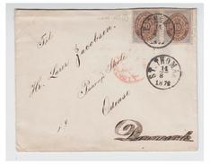 DANEMARK (ANTILLES) -- LETTRE DE ST THOMAS ODENSE (DANEMARK) -- 1879 -- PAIRE DU 10C  --TRANSIT LONDRES --
