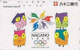 Télécarte Japon / 290-41876 - HIBOU Jeux Olympiques NAGANO - OWL Bird OLYMPIC GAMES Japan Phonecard - EULE - 3918 - Jeux Olympiques
