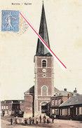 MARETZ - Eglise - Superbe Carte Animée Et Colorée Ayant Circulé En 1909 - Altri Comuni