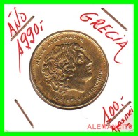 GRACIA  -  GREECE -  MONEDA DE  100  DRACHMES - AÑO 1990  -  Aluminum-Bronze, 29.5 Mm - Grèce