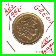 GRACIA  -  GREECE -  MONEDA DE  100  DRACHMES - AÑO 1992  -  Aluminum-Bronze, 29.5 Mm - Grèce