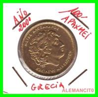 GRACIA  -  GREECE -  MONEDA DE  100  DRACHMES - AÑO 2000  -  Aluminum-Bronze, 29.5 Mm - Grecia