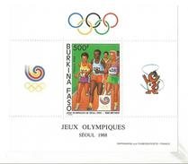 1988 Burkina Faso Seoul Running Athletics Olympics Complete Sheet Of 1 MNH - Burkina Faso (1984-...)