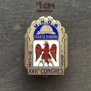 Badge (Pin) ZN005039 - Military (Army) L'UNOR (Union Nationale Des Officiers De Réserve) France Congres Nice 1937 - Army