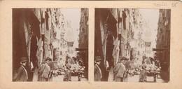 PHOTO Stereo AMATEUR ANCIENNE NAPLES NAPOLI UNE RUE   ITALIA ITALIE - Stereoscopio