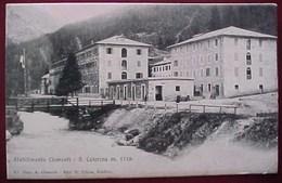 Cpa SANTA CATERINA VALFURVA - SONDRIO - STABILIMENTO CLEMENTI 1909 - Sondrio