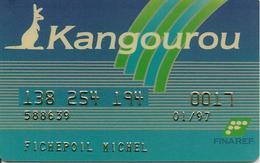 CARTE¤-MAGNETIQUE-CREDIT-KANGOUROU-FINAREF-TBE - France