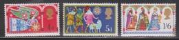 GREAT BRITAIN - Scott # 605-7 Mint Never Hinged  - QEII Christmas Issue - 1952-.... (Elizabeth II)