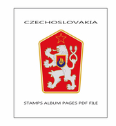 STAMPS ALBUM PAGES CZECHOSLOVAKIA 1919-1992 - PDF FILE  (354 ILUSTRTED PAGES) - Software