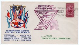 TACA / FIRST FLIGHT SAN JOSE' COSTA RICA/TEGUCIGALPA HONDURAS - 1943 - Aerei