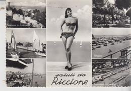 Riccione Rimini Pin Up Pinup's Pin Ups Vedute Saluti   Vg - Rimini