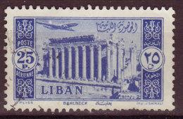 LIBAN - 1954 - YT PA N°98 - Oblitéré - Baalbek - Líbano
