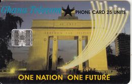 GHANA - One Nation One Futrure, 08/00, Used
