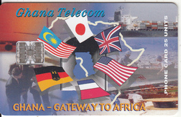 GHANA - Flags, Gateway To Africa, 08/00, Used - Ghana