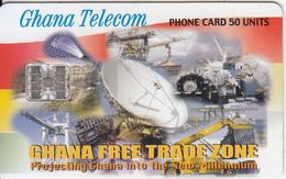 GHANA - Earth Station, Free Trade Zone, 04/01, Used - Ghana