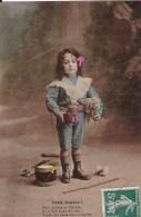 PETIT DIABLE ! Déja, Je Joue Du Diabolo. Enfant En Costume Avec Tambour. I R N - Babies