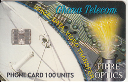 GHANA - Fibre Optics, Satellite Dish, 09/01, Used