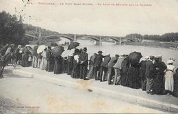 31)   TOULOUSE  - Le Pont Saint Michel - Un Jour De Régates Sur La Garonne - Toulouse