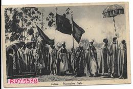 Eritrea Colonia Italiana Processione Cofta (affr. Con Coppia 75 Cent.poste Italiane Eritrea Posta Mil. 92) - Eritrea