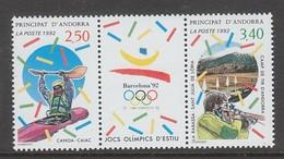 PAIRE NEUVE D´ANDORRE FR. - CANOË KAYAK ET TIR A LA CARABINE (J.O. DE BARCELONE) N° Y&T 419A - Zomer 1992: Barcelona
