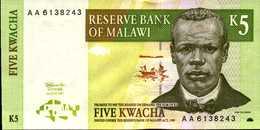 MALAWI 5 KWACHA Du 1-7-1997 Pick 36  UNC/NEUF - Malawi