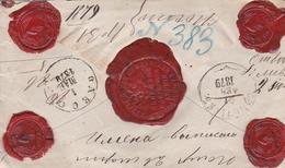 Russia  Postal History . Money Latter . Simbirsk.Simbirsk Province . To Mount Athos . - 1857-1916 Imperium